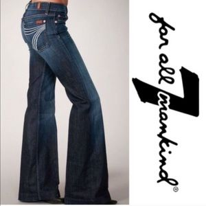 7 fam dojo jeans dark wash 7 for all mankind NWOT